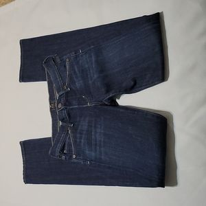 Citizens of Humanity dark wash mid rise straight leg jeans size 24